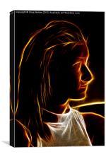 Fractal Girl, Canvas Print