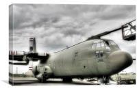 C130K Hercules Servicing, Canvas Print