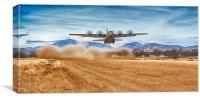 C130J Strip Take Off, Canvas Print