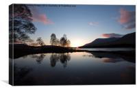 Sunrise at Loch Tulla, Canvas Print