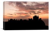 Dunnottar Castle Sunrise., Canvas Print
