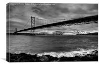 Forth Bridges Scotland., Canvas Print