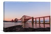 Forth Rail Bridge Sunset., Canvas Print