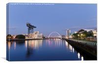 Glasgow Cityscape., Canvas Print
