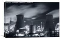 Grangemouth Oil Refinery, Scotland., Canvas Print