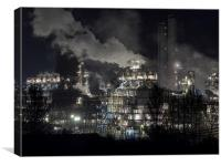 Petrochemical Industry, Canvas Print