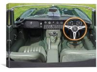 Jaguar E Type Interior, Canvas Print