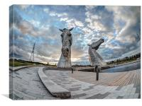 The Kelpies., Canvas Print