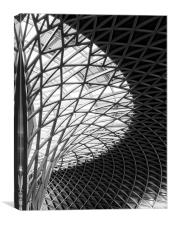 Kings Cross Station Concourse., Canvas Print