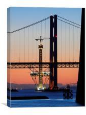 Forth Bridges at sunset, Canvas Print
