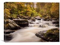 The River Braan, near Dunkeld, Scotland., Canvas Print