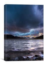 Loch Arklet in the Trossachs, Scotland., Canvas Print