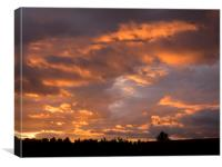Sunset over Falkirk., Canvas Print