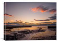 Bo'ness harbour sunset., Canvas Print