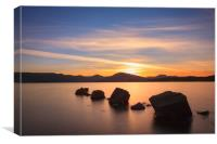Sunset at Loch Lomond., Canvas Print