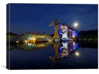 The Falkirk Wheel at night, Canvas Print