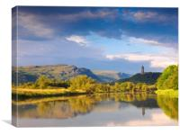 The river Forth, Stirling looking towards the Wall, Canvas Print