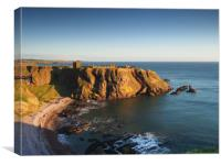 Dunnottar Castle at sunrise.                      , Canvas Print