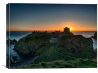 Dunnottar Castle at sunrise.                      , Canvas Print