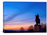 Sunset at Bannockburn, Canvas Print
