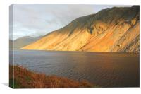 Sunny afternoon at Wasdale lake, Canvas Print