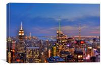 The City Light, Canvas Print