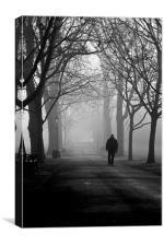 A Morning Walk, Canvas Print