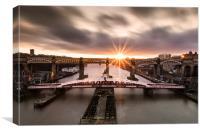 Swing Bridge Sunset, Canvas Print