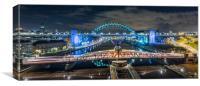 The Newcastle Swing Bridge, Canvas Print