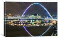 Newcastle Millennium Bridge, Canvas Print