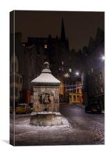 West Bow, Edinburgh, Canvas Print