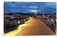 The Peace Bridge, Londonderry, Canvas Print