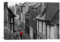 Red Umbrella, Canvas Print