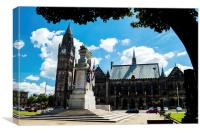 Rochdale Memorial and Town Hall, Canvas Print