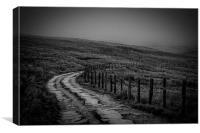 Misty Moorland Road, Canvas Print