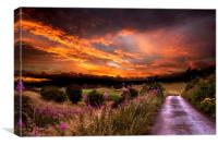 Sunset over Rochdale, Canvas Print