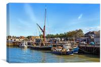 Whistable Harbour, Canvas Print