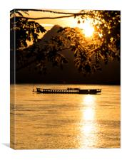 Sunset over the Mekong River, Canvas Print