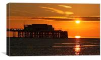Sunrise Worthing Pier, Canvas Print
