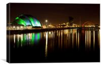 Glasgow by the river Clyde, Canvas Print
