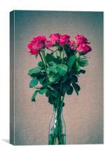 Pink Roses Still Life, Canvas Print