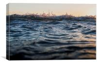 Penzance Waves, Canvas Print