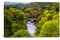 River Dee from Pontcysyllte Aqueduct, Canvas Print