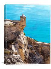 Castell de Santa Barbara in Alicante, Canvas Print