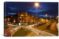 Glasgow Night Lights, Canvas Print