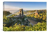 Clifton bridge, Bristol, UK, morning, Canvas Print