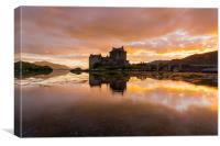 Eilean Donan Castle, Scotland at sunset, Canvas Print