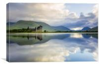 Early morning at Kilchurn castle on Loch Awe, Sco, Canvas Print