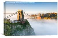 Cloud Inversion at Clifton Bridge, Bristol, Canvas Print