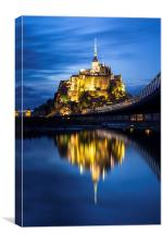 Le Mont Saint-Michel at dusk, Canvas Print